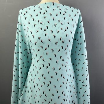 Toucans Polyester Crepe