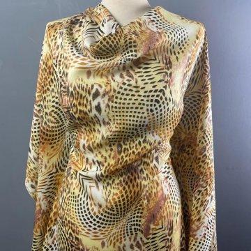 Pure Silk Leopard