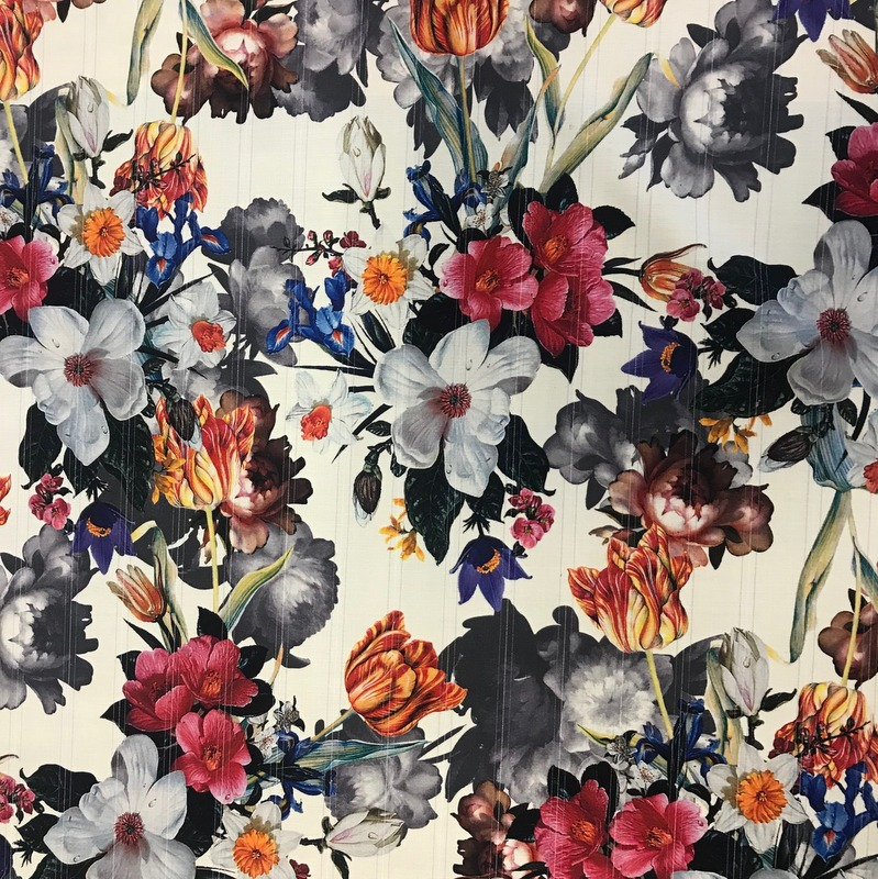 Printed Wool Flower Smash
