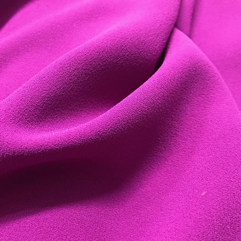Triple Crepe Cerise Pink