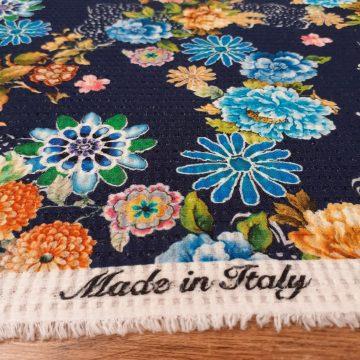 Italian Pure Cotton Waffle Navy