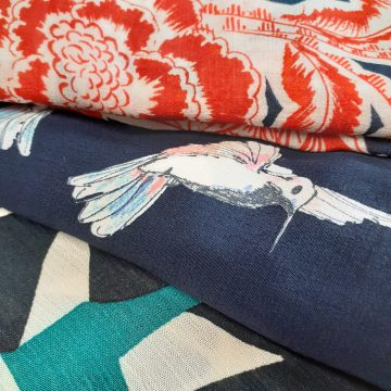 LAST CHANCE TO BUY Italian Sample Lengths Bundle Over 5mt Total of 3 Fabrics for Just £17