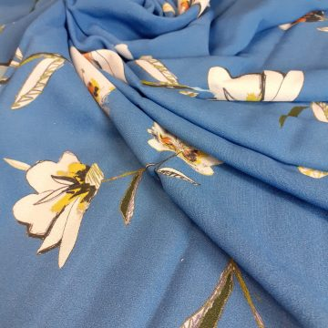 LAST CHANCE TO BUY 3.5mt for £11 Sky Blue Viscose Sample