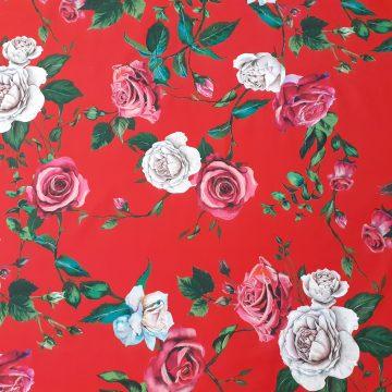 Designer Brushed Back Cotton Roses