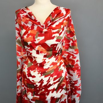 Tomatoes and Olives Silk Viscose Burnout