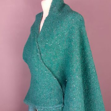 Greeny Blue Wool Mix