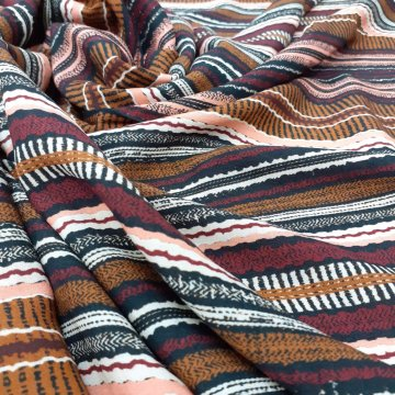 LAST CHANCE TO BUY 1.60mts of Drapey Pure Rayon Stripes for £9