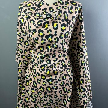 Leopard Print Italian Pure Cotton