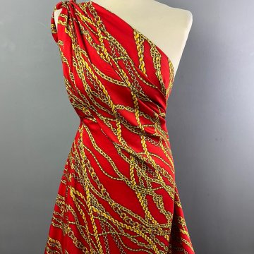 Italian Soft Silky Rayon Chain Red