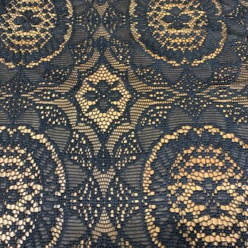 Last Chance to Buy Heavy Black Lace 2.50 metres for £10