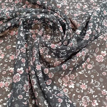 Last Chance To Buy 4.40m of Black Lurex Chiffon for £12