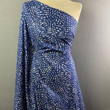 Patterned Tencel Blue