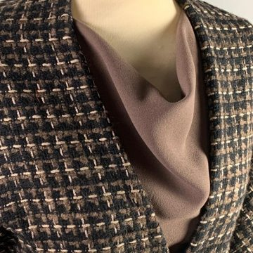 Italian Black Brown and Taupe Tweed