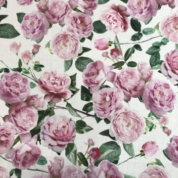 Italian Fine Cotton Roses