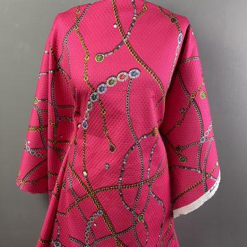Matelassé Cotton Chains Pink
