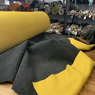 Italian Mustard and Grey Reversible Cloth