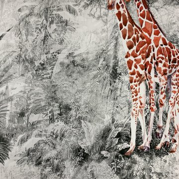 Giraffe Silk Panel