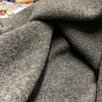 Charcoal Grey Boiled Wool