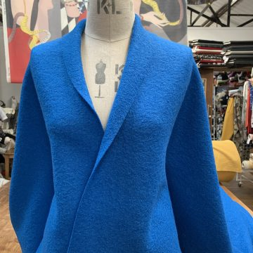 Royal Blue Boiled Wool