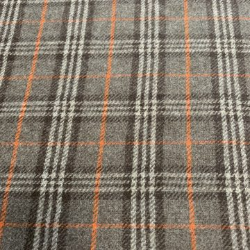 Orange checked wool 3.75 metres!