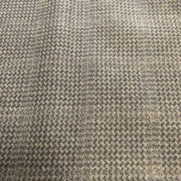 Pure Wool Check Browny Green