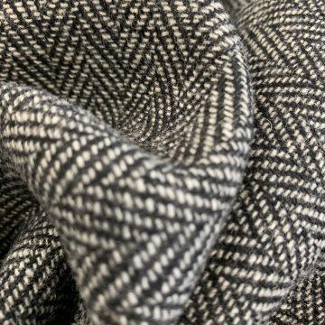 LAST CHANCE TO BUY 1.5m for £10 Grey Wool Mix Herringbone