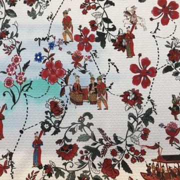 Spring Italian Print Cotton & Lycra