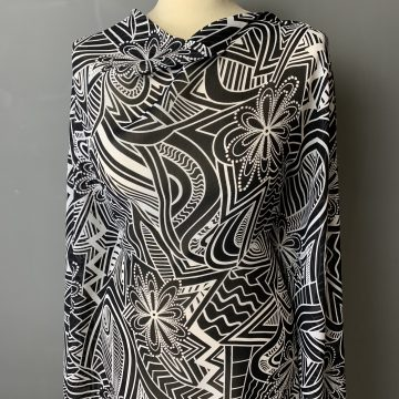 Last Chance To Buy 5m of Black and White Georgette for £15