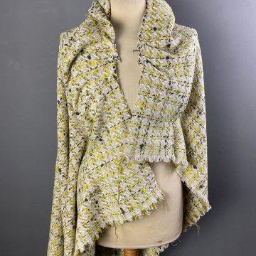 Yellow Check Wool Mix