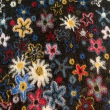 Italian Wool and Rayon with Flowers