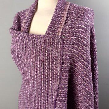 Purple Wool Mix Tweed