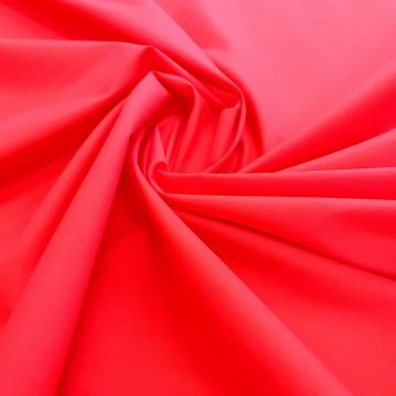 Lightweight Red Poly Cotton