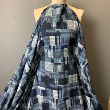 Last Chance To Buy 4.70m of Blue Viscose for £15