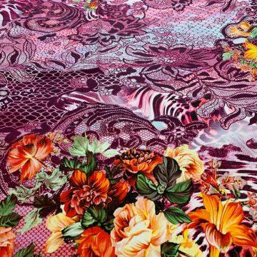 Italian Silk Design On Cotton 3.50m LAST CHANCE TO BUY