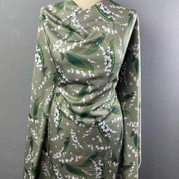 Italian Soft Silky Rayon Beigy-Green