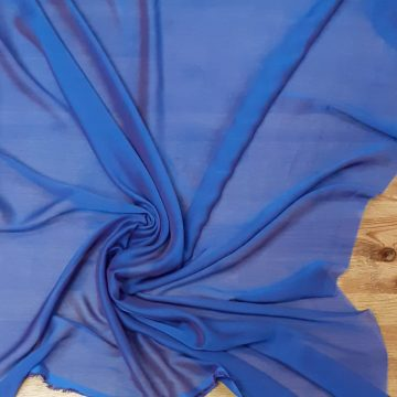 Last Chance To Buy 3.25m of Purple Iridesent Polyester Chiffon for £7