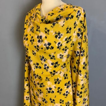 Last Chance To Buy 3.30m of an Italian Mustard Rayon For £10