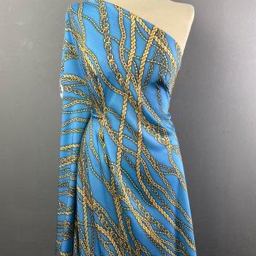 Italian Soft Silky Rayon Chain Blue
