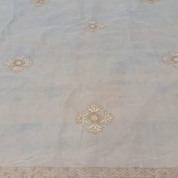 1.30mts Embroidered Waxy- Feel Cotton