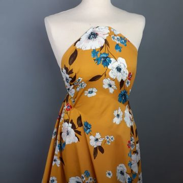 Italian Butterscotch Yellow Polyester Flowers