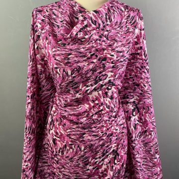 Pink and Black Spun Polyester