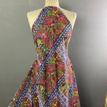 Colourful Crinkled Viscose