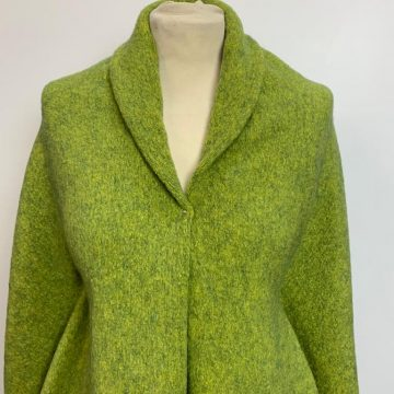Wool Mix Marl Lime & Olive Green
